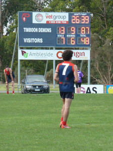 Country footy at Easter: the Timboon Demons had a comfortable win over Scotts Creek on Saturday, in the Warrnambool and District League.